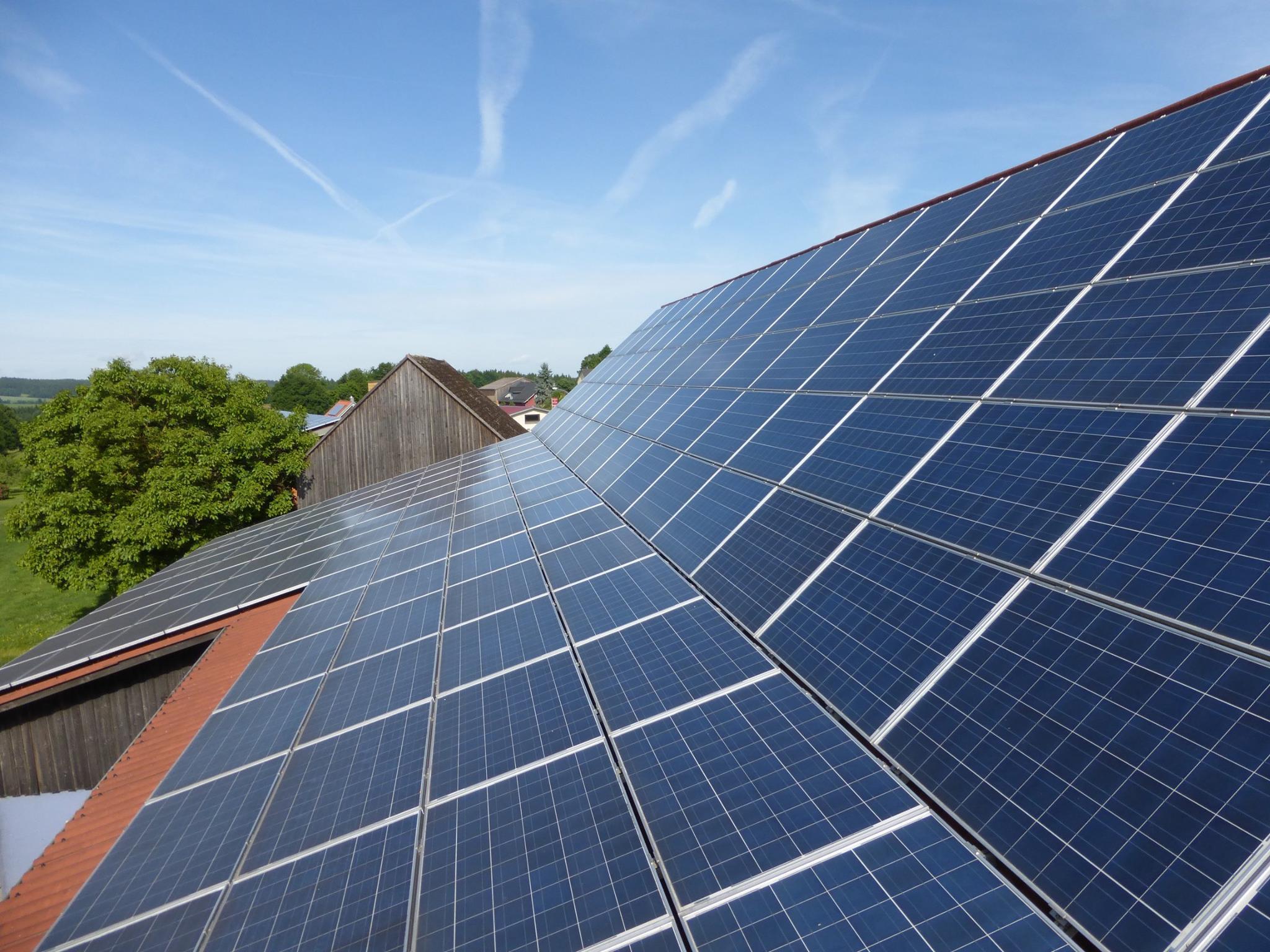 Komplettreinigung einer Solaranlage