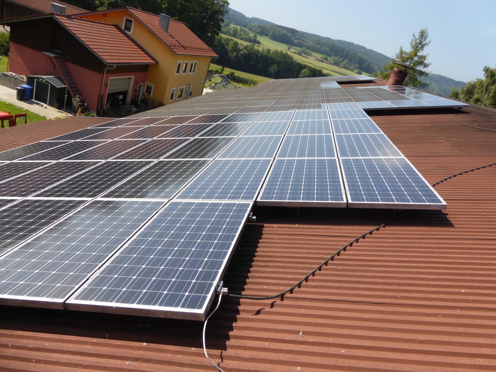 Teilreingigung einer Solaranlage